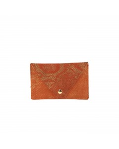 Florence Card holder: Green cracked