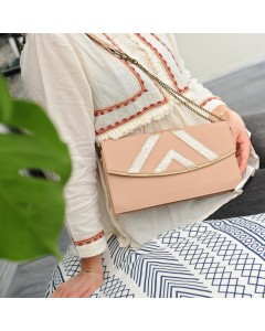 Prague Clutch Bag: Pink