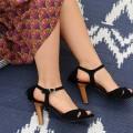 Jakarta Heeled Sandals Black