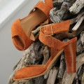 Prato Heeled Sandals Camel (Available Beginning of March)