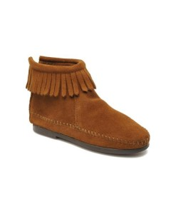 Minnetonka Back Zip bootie - Brown