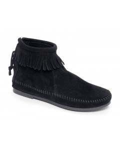 Minnetonka Back Zip bootie - Black