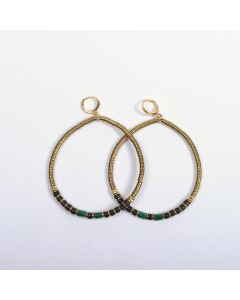 Vadi earrings - Green / Black