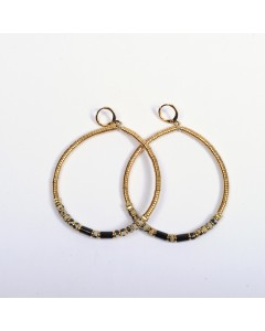Vadi earrings - Grey / Black