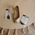 Athens Peep Toe  - Gold and gel pad