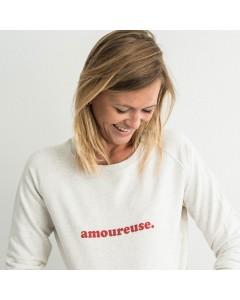 "Sweatshirt ""amoureuse"" - Buttée"