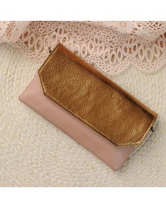 Zagora Clutch bag for mobile phone - Gold Pink