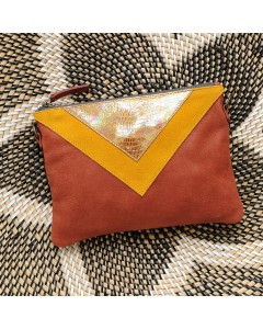 Gizeh clutch bag - Yellow Hologram