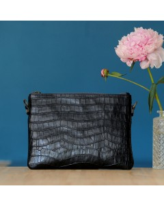 Zanzibar clutch bag- Black Croco
