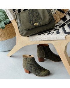 Pre order - Odessa Boots - Khaki Python - Shipping from September 15th