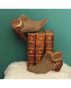 Pre order - Phoenix Boots - Khaki Python - Shipping from September 15th