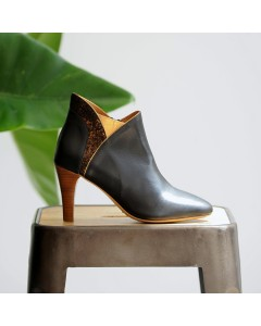 Boots Moscou - Noir Craquelé Bronze
