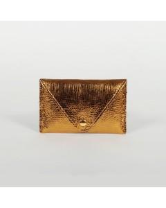 Porte carte Florence - Craquelé or