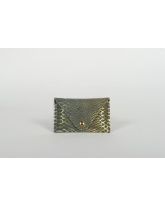 Florence Card holder - Green Peacock