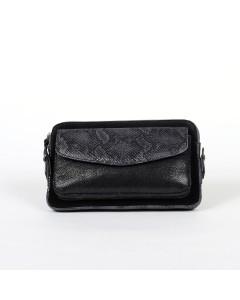 Eugene Clutch Bag - Black Python