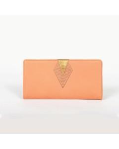 Ibiza Wallet - Peach - Pink Python