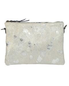 Clutch bag Zanzibar - Silver fur