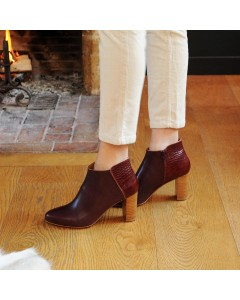 Pre order - Montreal Boots - Burgundy Crocodile - Shipping from September 15th
