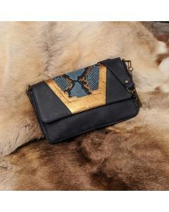 Tokyo Clutch bag - Blue python