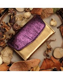 Dallas Purse: Bronze - Purple cracked