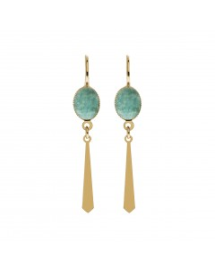 Sleeper Inca earrings - Laëti Trëma - Amazonite