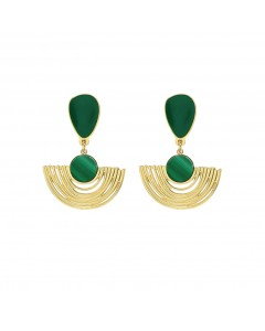Duo Arc earrings - Laëti Trëma - Malachite/Green