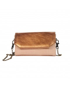 Zagora Clutch for mobile phone - Braided Pink