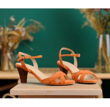 Sandales Palerme Abricot