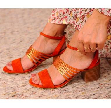 Sandales Java Agrume