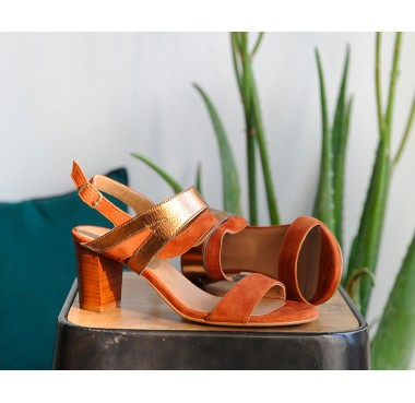 Sandales Figari Cognac