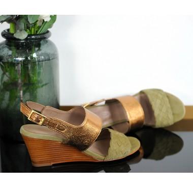 Sandales Brisbane Olive/Bronze