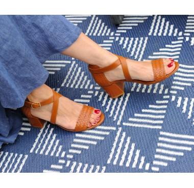 Nagoya Heeled Sandals - Camel