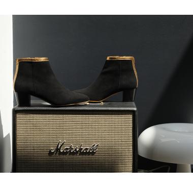 Boots Lausanne Noir Bronze