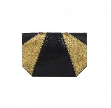 Portefeuille Dubai Noir/Lézard Bronze