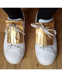 Languettes à franges pour chaussures - Métal bronze