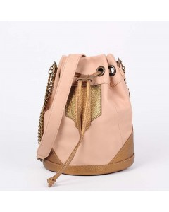 Sac Petit Boston Rose - Bronze Métal