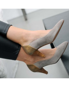 Miami Pump Shoes - Taupe
