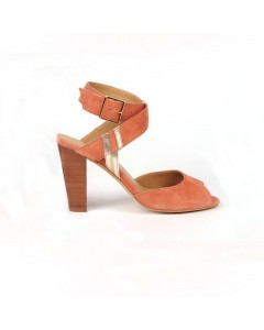 Prato Heeled Sandals Orange