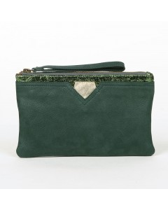 Faro Wallet Case: Forest - Green cracked