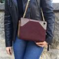 Rome Bag - Burgundy - Lizard