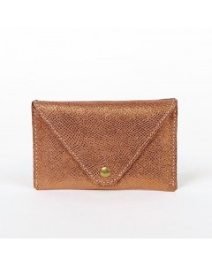 Florence Card holder: Lizard burgundy