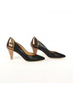 Miami Pump Shoes - Black & Lizard