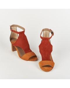 Lanzarote Heeled Sandals - Nude